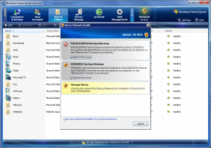 Home Server Console (Home Network Health)