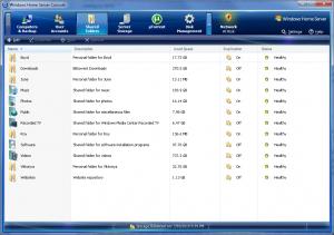 Home Server Console (Shared Folders)