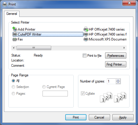 Make Your Own PDF Documents – Boydo's Tech Talk Cutepdf Printer