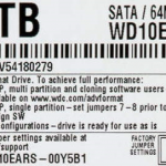 Western Digital Advanced Format Hard Drive Label