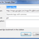 Firefox - Bookmark Properties