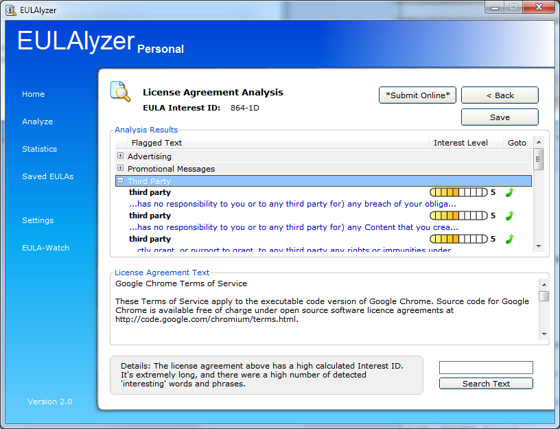 Spot Interesting Software License Agreement Clauses With Eulalyzer