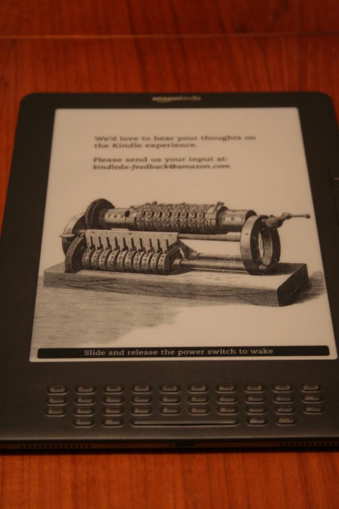 Amazon Kindle DX - Power Off Screen
