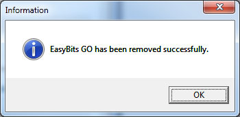 EasyBits GO Uninstallation - Step 2