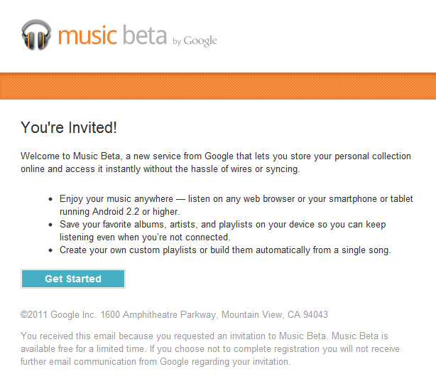 Google music an unexpected invitation boydos tech talk google music invitation stopboris Image collections