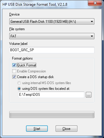 how to create dos usb boot disk