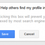 Changing Search Visibility Setting in Google Plus