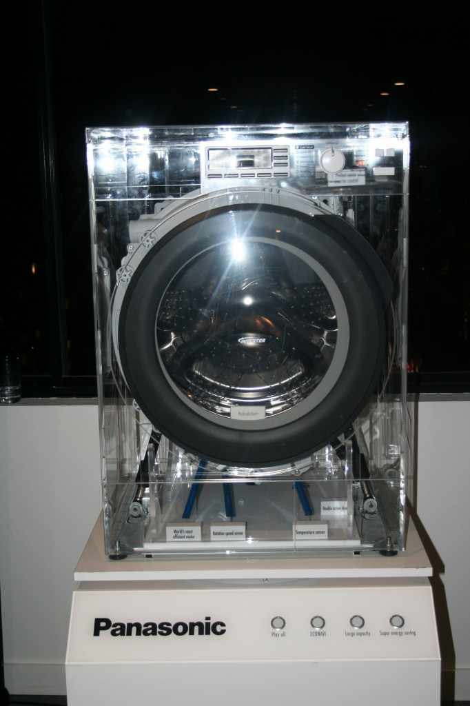 Front View of the Panasonic ECONAVI Washing Machine