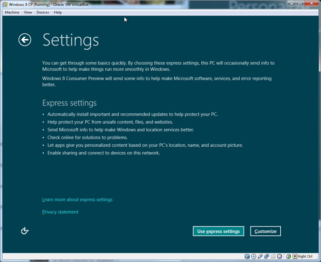 Windows Install - Step 02 (Settings)