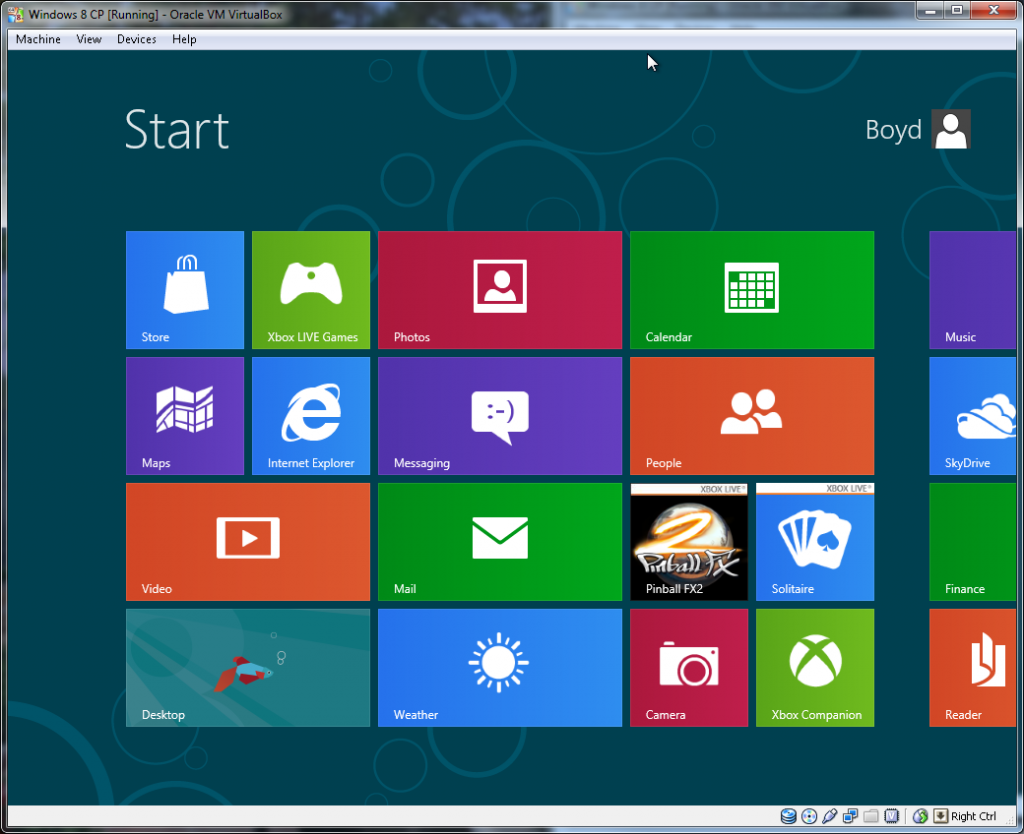 Windows Install - Step 6 (Windows Start Screen)