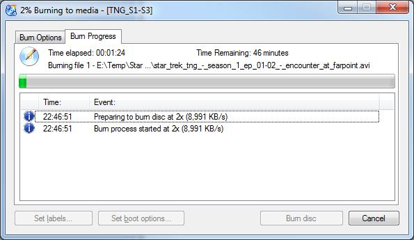 CDBurnerXP - Successful Burn