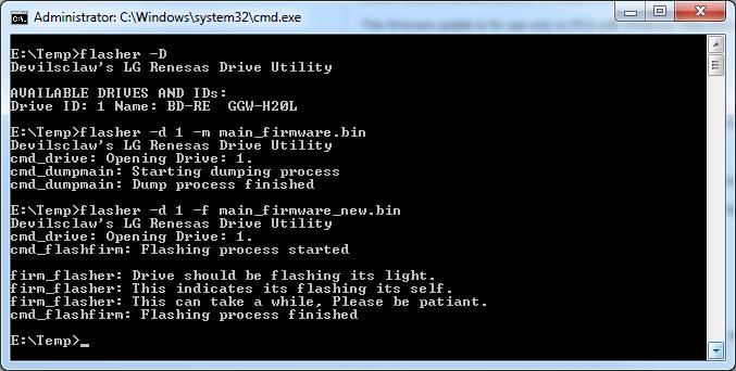 Flasher - Upload Updated Burner Firmware