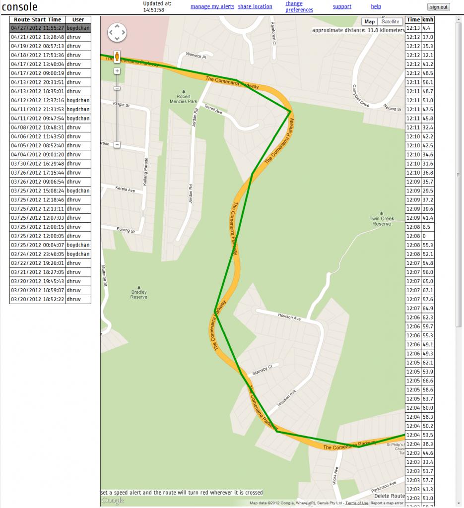 Raah Tracker - Sample Route