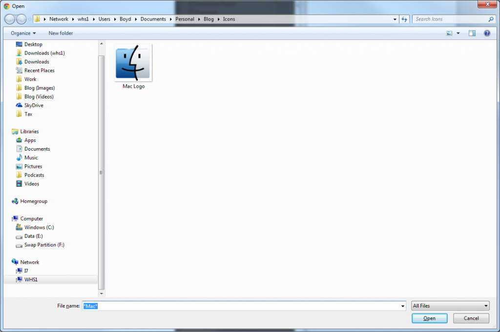 File Browsing (Filtered)