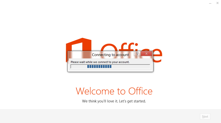 Office 2013 - Installation - Welcome