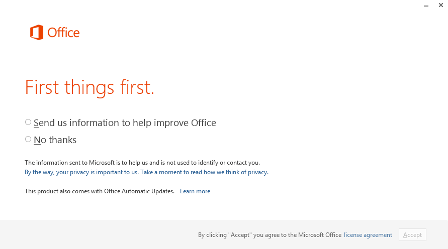 Office 2013 - Installation - Office Feedback Opt-in