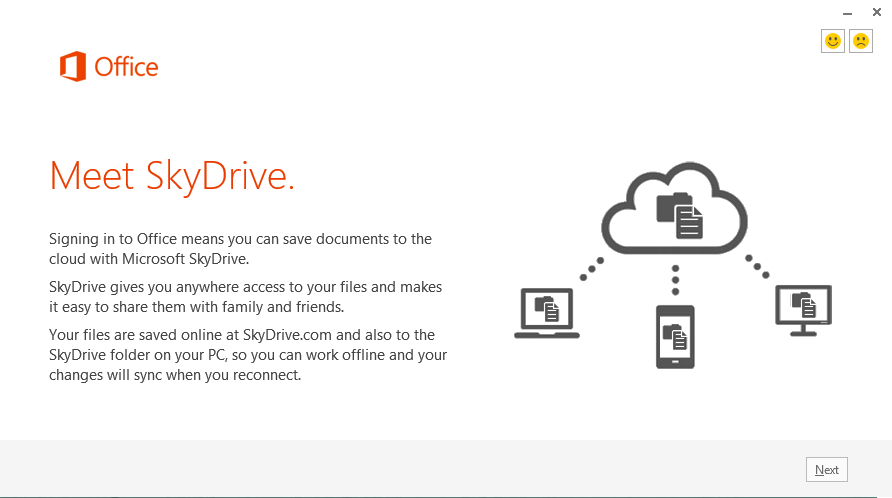 Office 2013 - Installation - Meet SkyDrive
