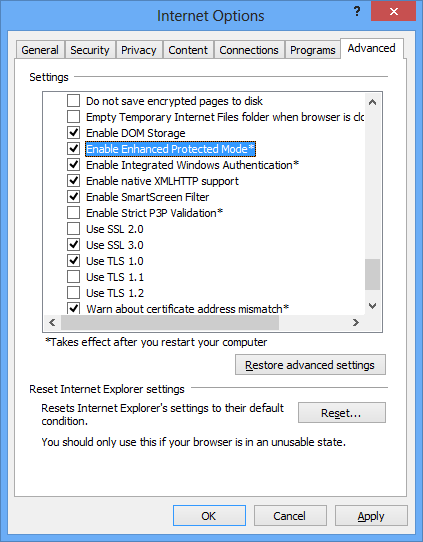 Switch Between 32-bit and 64-bit Internet Explorer 10 in