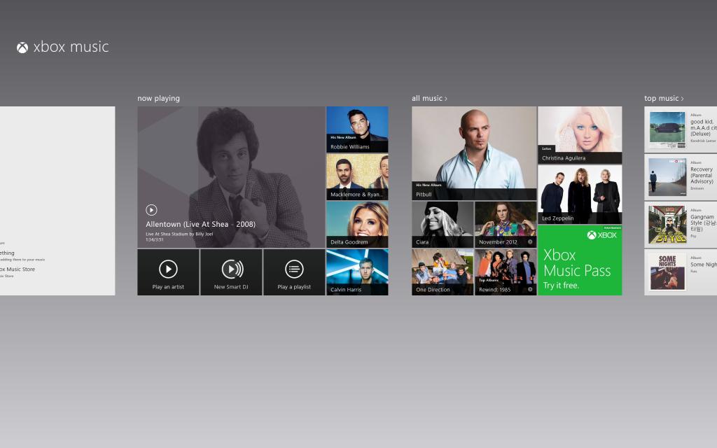 Windows 8 - Music Hub