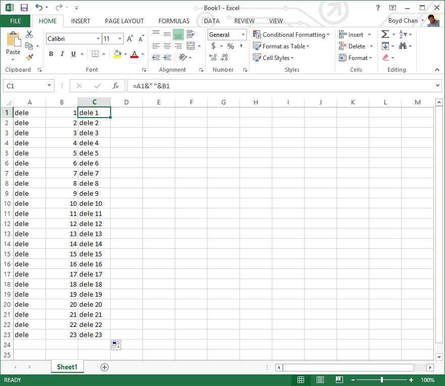 Microsoft Excel - Generating Telnet Delete Commands