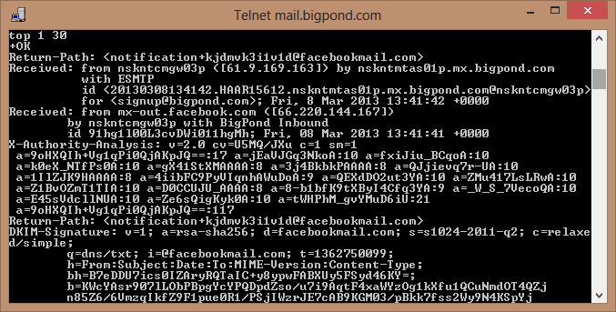 Telnet - Top Command