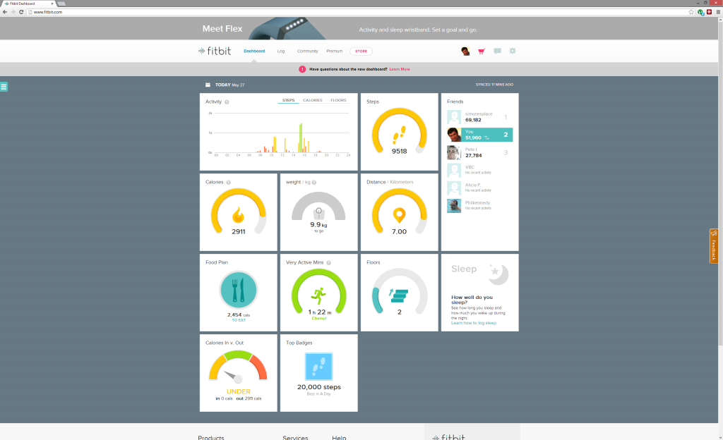 The New Fitbit Dashboard