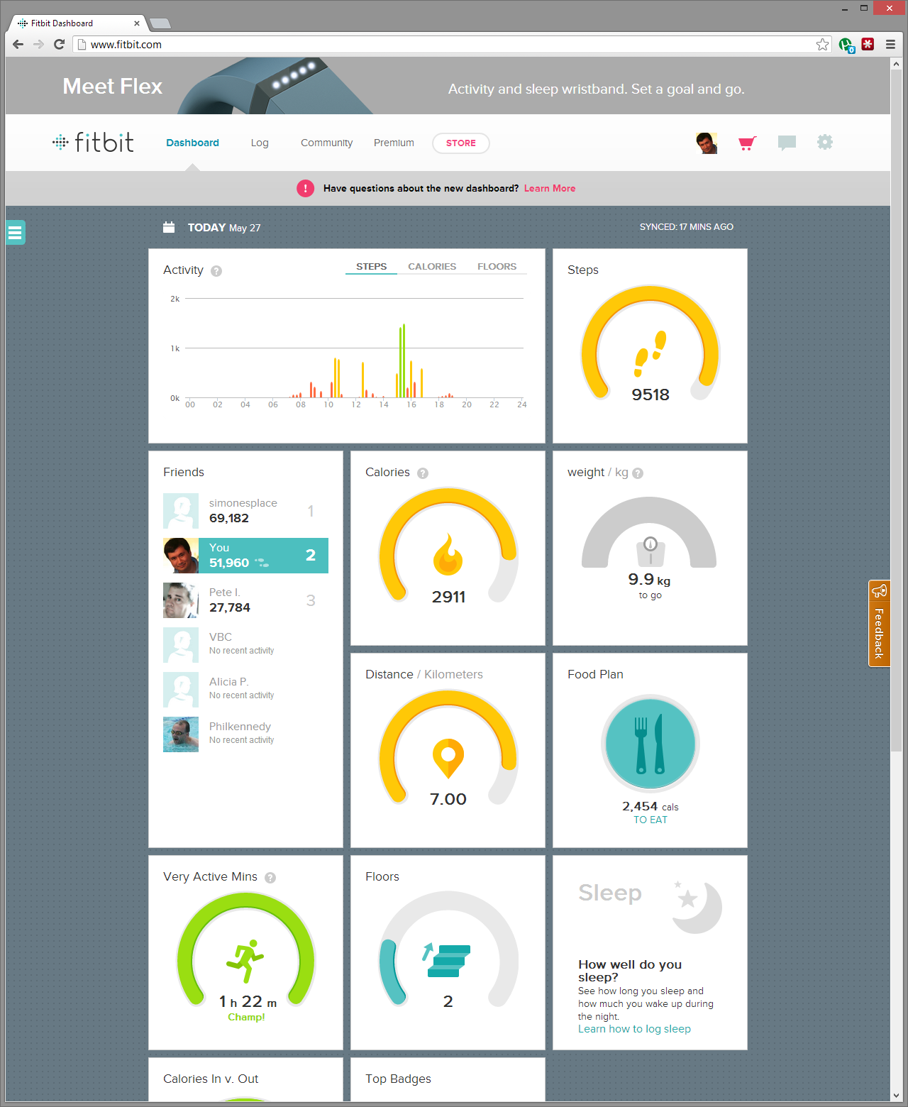 Fitbit Dashboard Receives Metro Styling – Boydo's Tech Talk