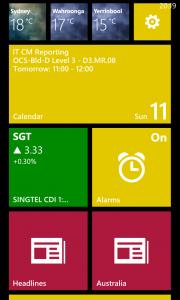 Live tiles for Bing apps