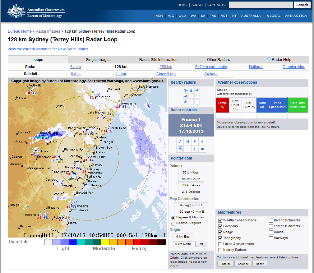 Tracking Bushfires on the BOM Radar