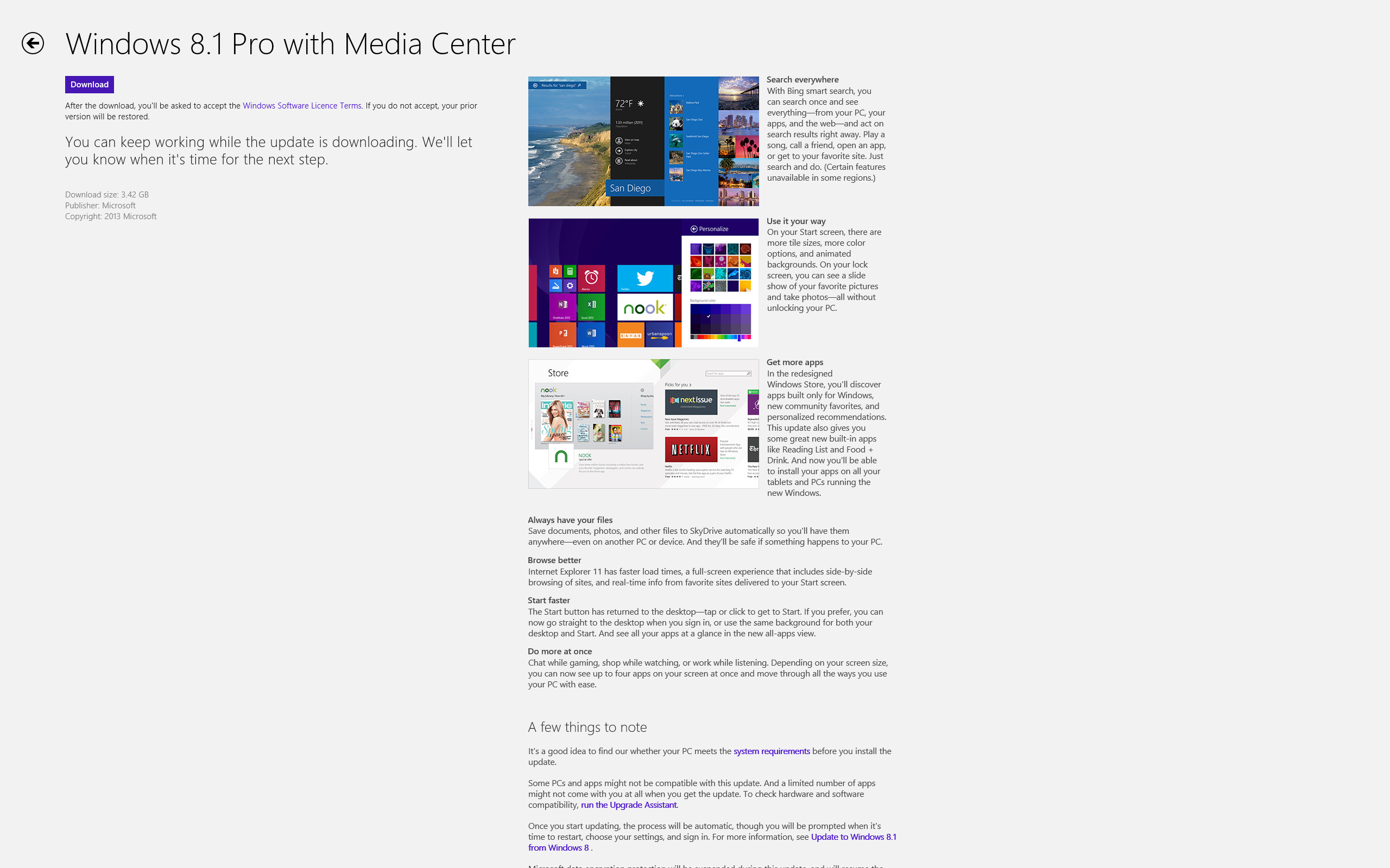 Windows 8.1 Ready to Download via the Windows Store