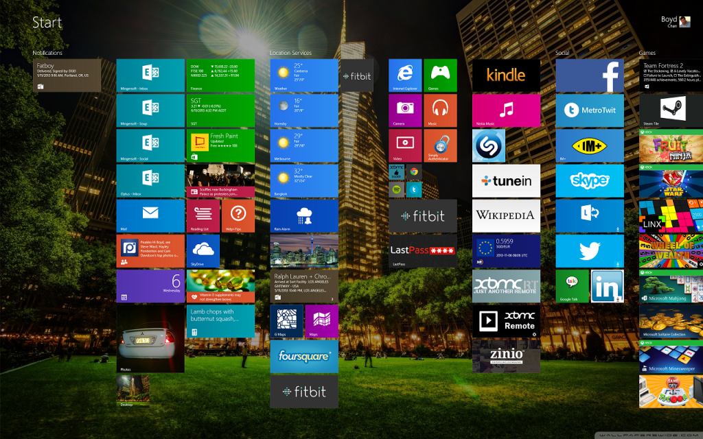 Unsquished Windows 8.1 Start Screen Tiles (Small)