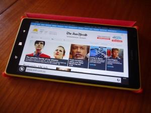 Lumia 1520 cover case - shallow angle