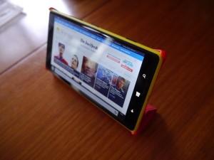 Lumia 1520 cover case - upright angle