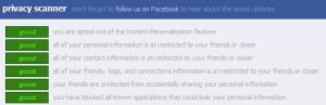 Facebook Privacy Scanner