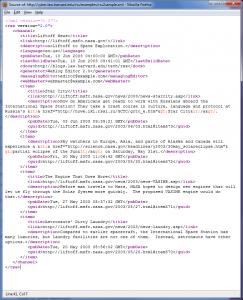 Example RSS XML
