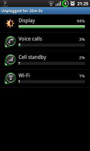 Android Battery Statistics