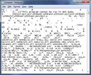 Notepad Binary Code