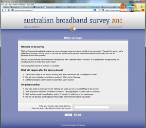 Whirlpool Australian Broadband Survey 2010