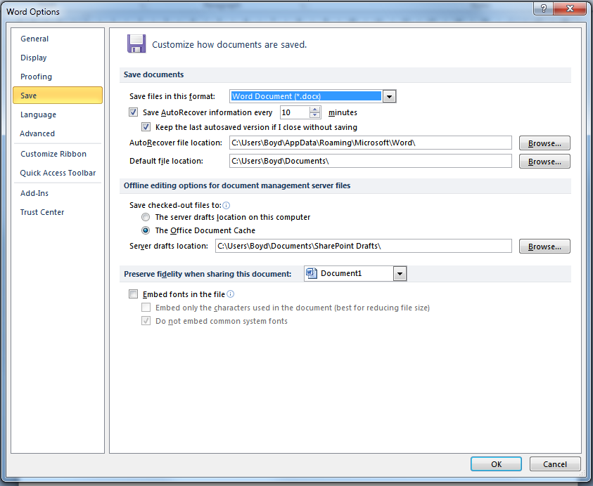 Technology Management Image: Change The Default Document Format To Office 2003 In