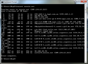 Traceroute with Unresponsive Hop