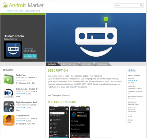 Android Market in Google Chrome