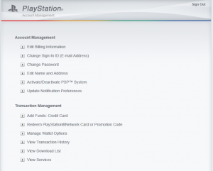 PlayStation Account Management