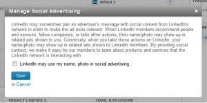 LinkedIn - Manage Social Advertising Option