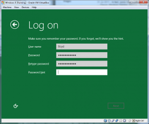 Windows Install - Step 04 (Logon)