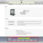 Checking iOS Device Space Utilisation in iTunes
