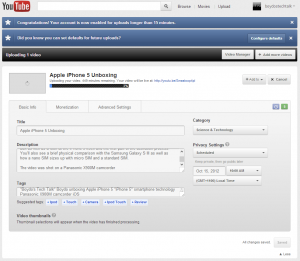 Scheduled Publishing of an Uploaded Video - YouTube