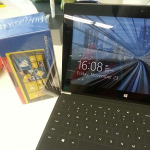 Nokia Lumia 920 with Microsoft Surface