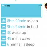 Fitbit Companion - Sleep Screen