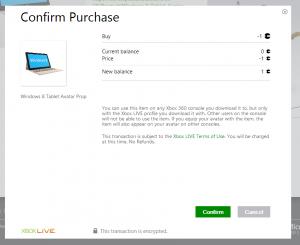 Weird Purchase Confirmation Screen